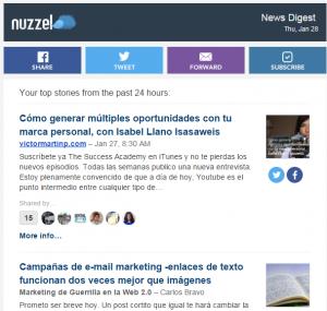 ejemplo Nuzzel