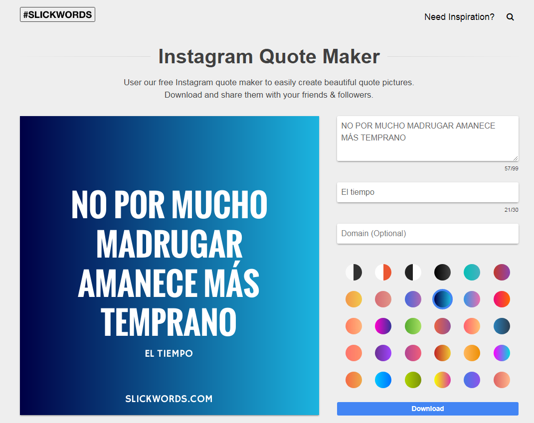 Instagram Quote Maker